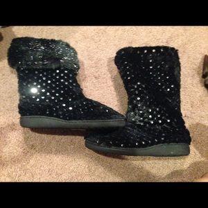 Shoes - Black Sequins boots